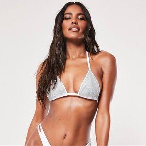 MISSGUIDED Diamonte Bikini Top